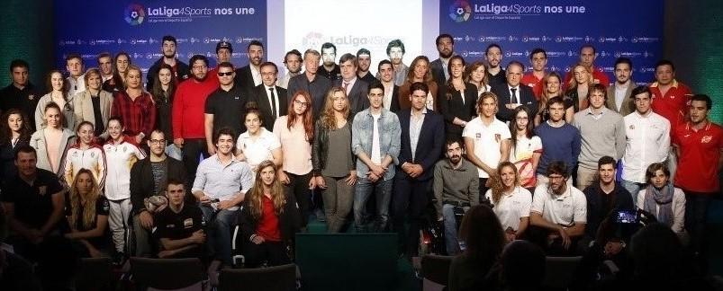Deportistas y promotores de La Liga 4 Sports. Fuente: La Liga
