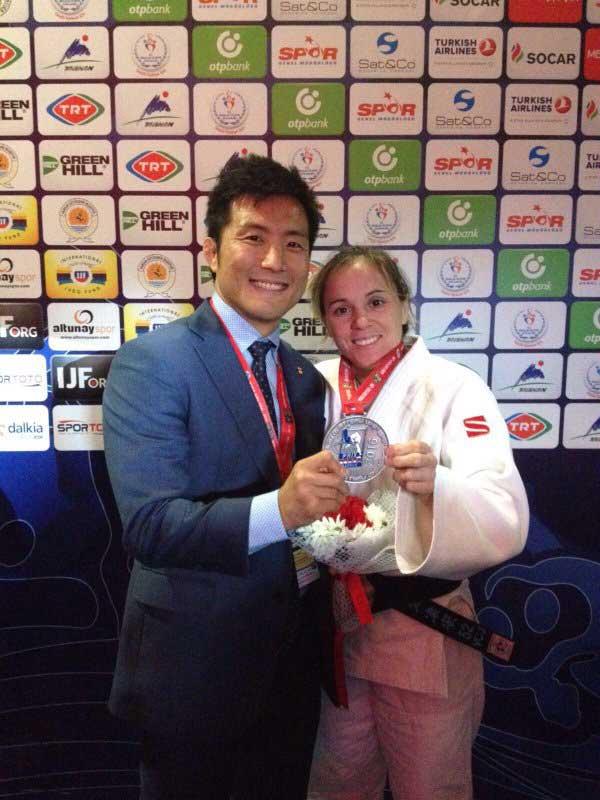 La judoca Laura Gómez. Fuente: IFJ