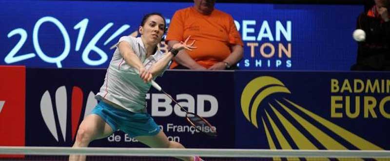 La madrileña Beatriz Corrales accede a los cuartos de final del Europeo. Fuente: bádminton.es