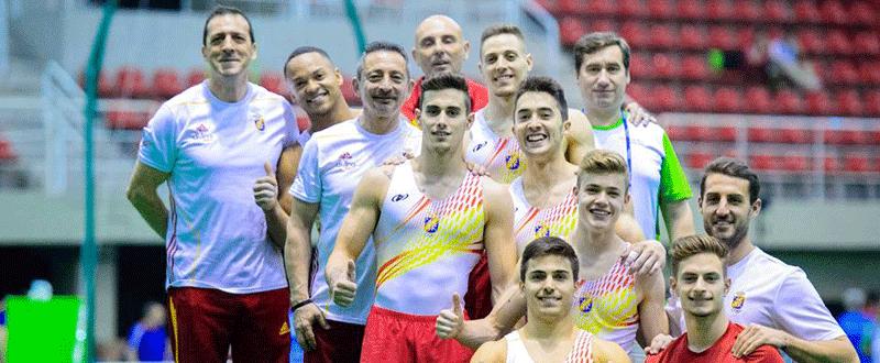 Equipo español de gimnasia artística. Fuente: AD