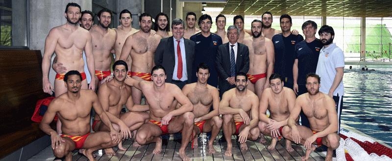 Selección española de waterpolo. Fuente: EFE