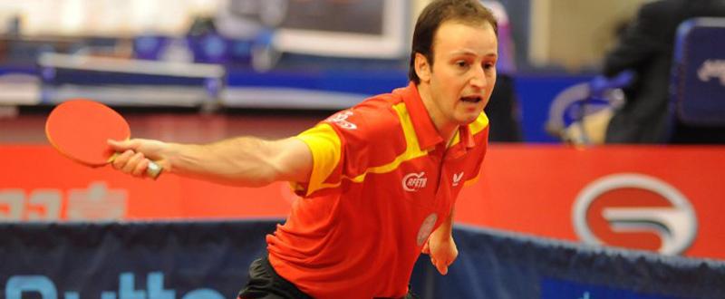 El jugador de tenis de mesa, Carlos Machado, durante una competición. Fuente: CSD