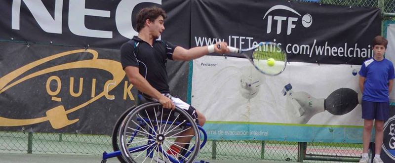 El tenista español, Daniel Caverzaschi, número 17 del ránking mundial y que disputará en Río sus segundos Juegos. Fuente: ITF