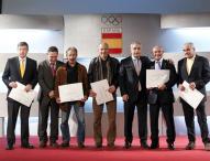 Homenaje en el COE a los olímpicos de 1968 y 1972