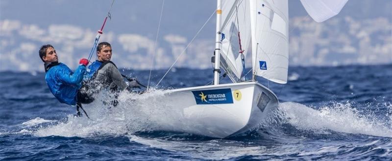 La tripulación 470 de vela formada por Jordi Xammar y Joan Herp. Fuente: RFEV