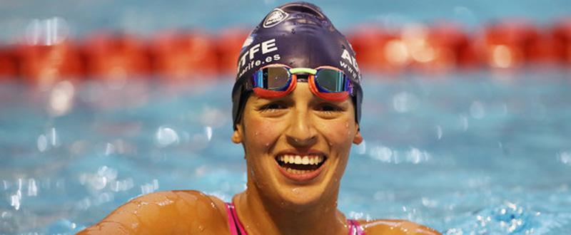 La nadadora canaria, Michelle Alonso, plusmarquista mundial en los 100 metros braza.