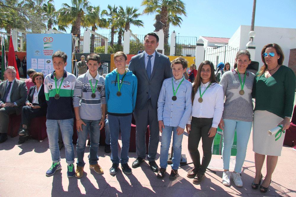 Ganadores de la Olimpiada Escolar 2015. Fuente: AD