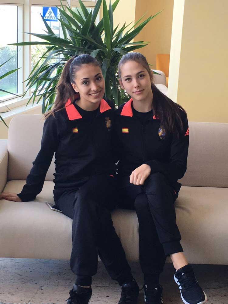 Polina Berezina y Natalia García. Fuente: Rfeg