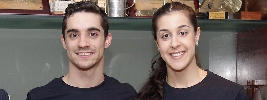 Jesús Fernçandez y Carolina Marín durante el acto de presentación. Fuente: COE