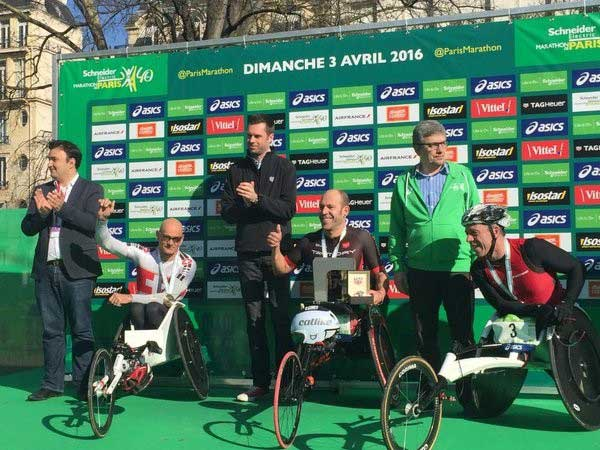 Rafa Botello en el podio de París. Fuente: AD