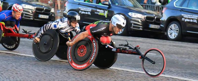 El atleta paralímpico español, Rafa Botello, durante una competición. Fuente: RB
