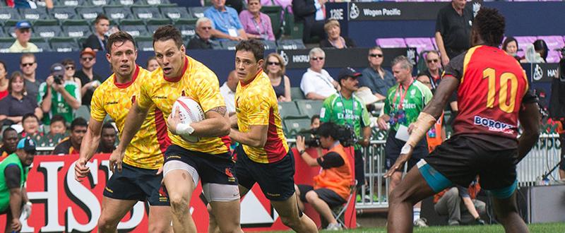 La selección española de rugby seven se queda sin ascenso a las Series Mundiales. Fuente: Ferugby