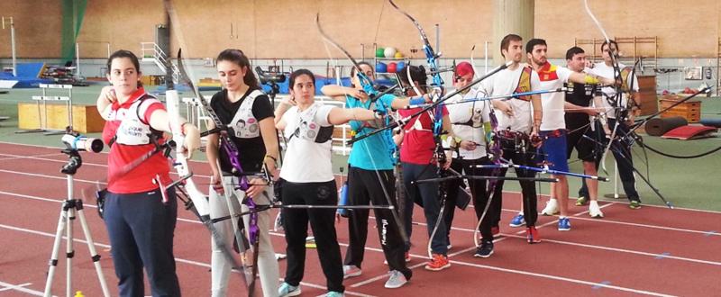El equipo español de tiro con arco, se prepara para las competiciones internacionales. Fuente: Federarco