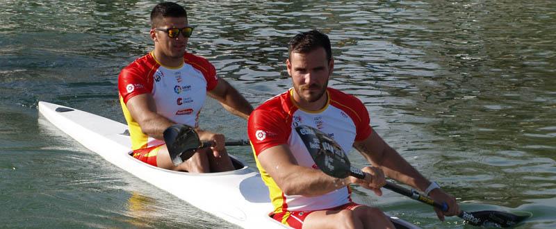 Cristian Toro y Saúl Craviotto logran plaza para los Juegos Olímpicos en K2. Fuente: RFEP