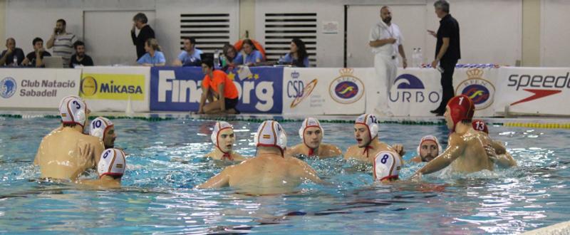 Los jugadores de la selección española de waterpolo. Fuente: RFEN
