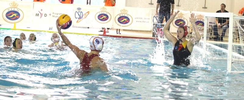 La selección española de waterpolo arrolla a Alemania en Manresa. Fuente: RFEN