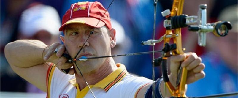 El arquero ferrolano, Guillermo 'Willy' Rodríguez durante una competición. Fuente: CPE