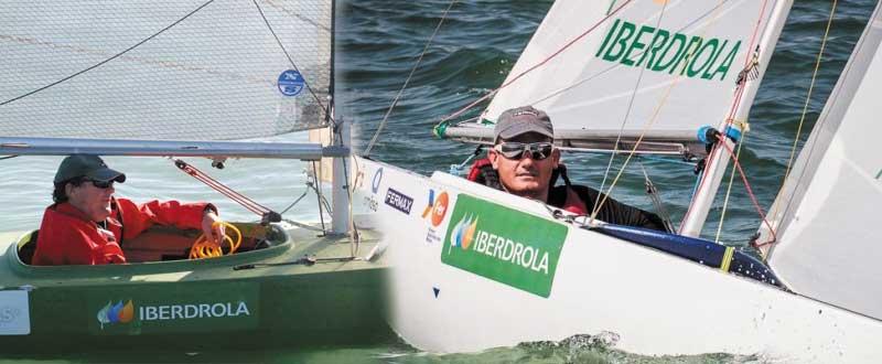 Los regatistas de la clase paralímpica 2.4mR, Arturo Montes y Rafa Andarias. Fuente: AD