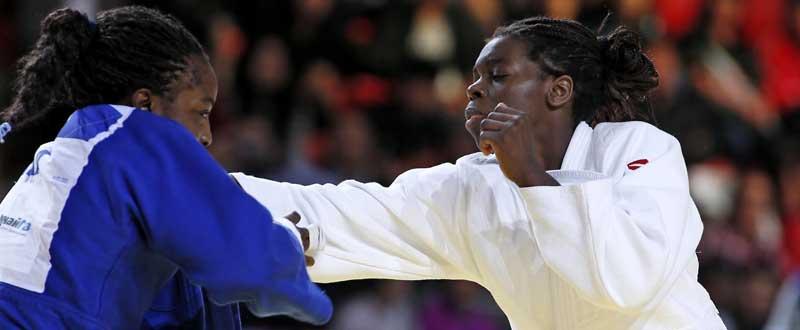 La judoca española, María Bernabeu, durante un combate. Fuente: IJF
