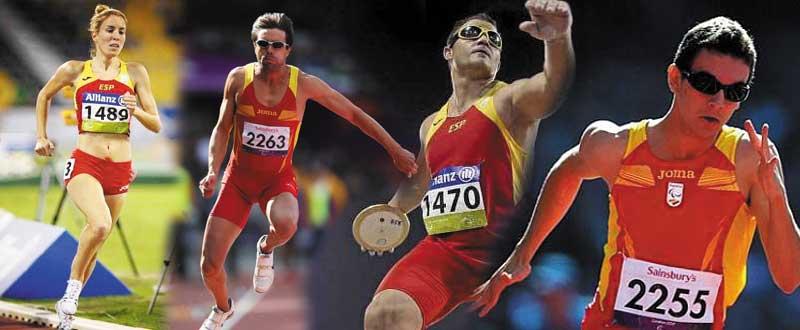 Los atletas Elena Congost, Xavi Porras, David Casinos y Gerard Descarrega. Fuente: AD