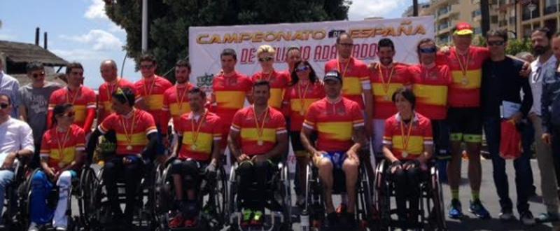 Algunos de los ciclistas en el campeonato de España disputado en Estepona. Fuente: RFEC