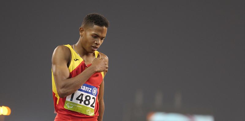 El atleta español, Deliber Rodríguez, durante una competición. Fuente: CPE