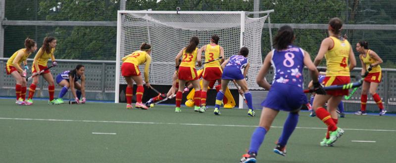 La selección femenina española de hockey hierba. Fuente: Rfeh
