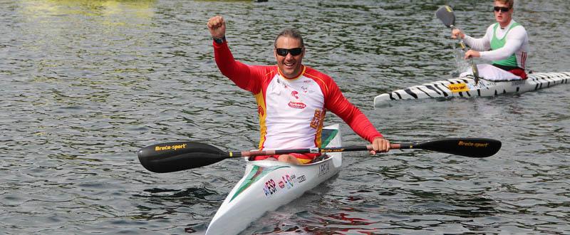 El palista andaluz, Javier Reja, subcampeón del mundo en canoa adaptada. Fuente: RFEP
