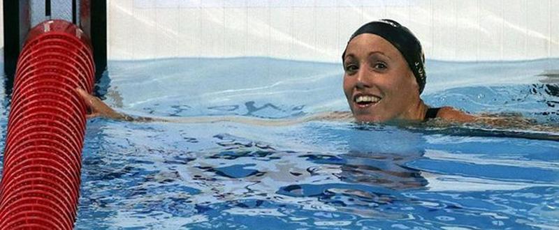 La nadadora española, Jessica Vall, subcampeona de Europa en 200 braza.