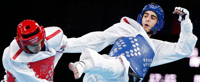 El taekwondista español, Joel González, bronce en el Europeo. Fuente: AD