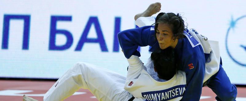 La judoca andaluza, Julia Figueroa, durante un combate en -48 kilos. Fuente: IJF