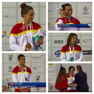 Los medallistas españoles. Fuente: CPE