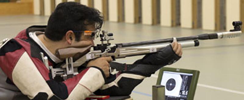 El tirador gallego Juan Antonio Saavedra durante una competición. Fuente: tirolímpico.org