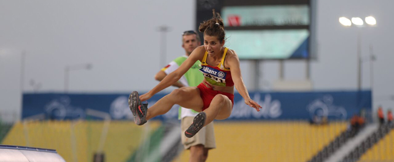 Sara Martinez Puntero en el Mundial de Doha, donde logró el bronce en longitud. Fuente: CPE