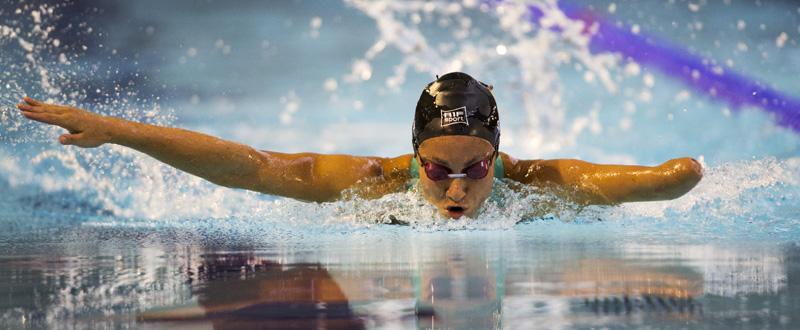 La nadadora catalana Sarai Gascón, logra la medalla de oro y el récord de Europa en los 100 mariposa. Fuente: CPE