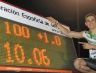 Bruno Hortelano, récord de España de 100 metros dos veces en una hora