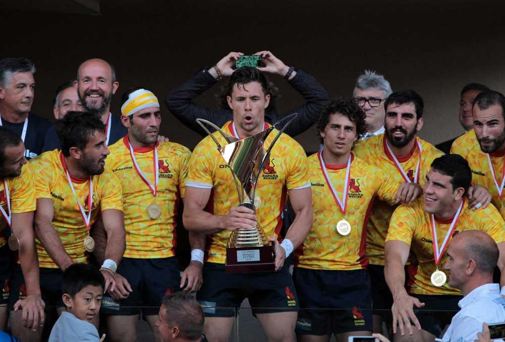 Selección masculina española de rugby seven (Leones). Fuente: Ferugby