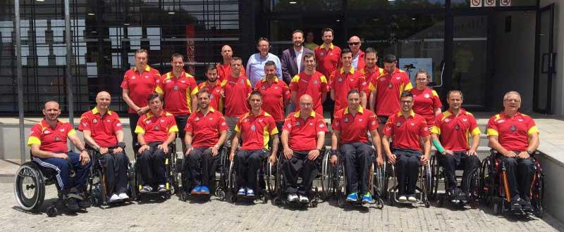 Equipo español de tenis de mesa paralímpico. Fuente: Rfetm