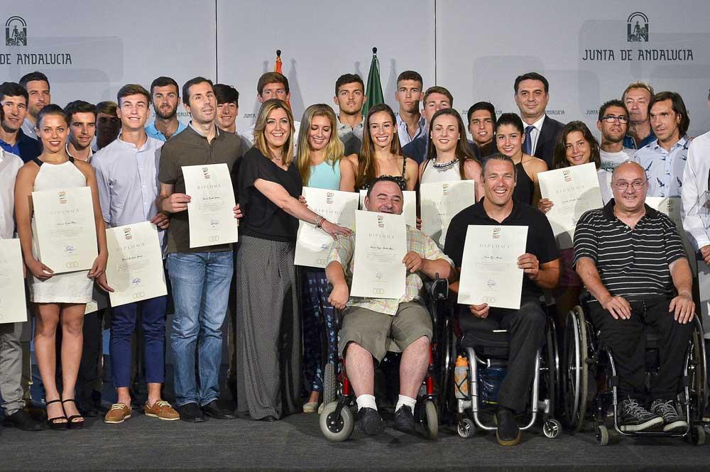 Becados Plan Andalucía Olímpica 2016. Fuente: JA