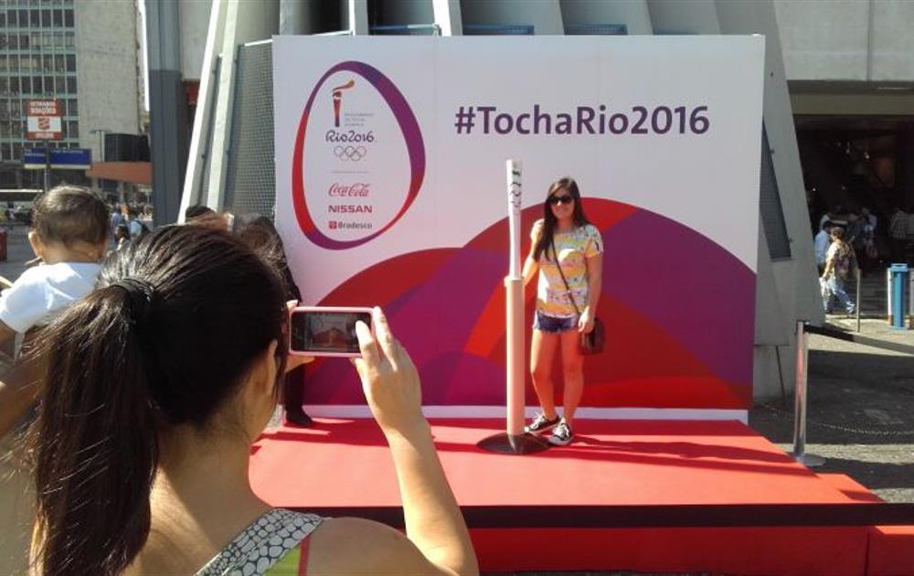 Antorcha olímpica Río. Fuente: Rio2016.com