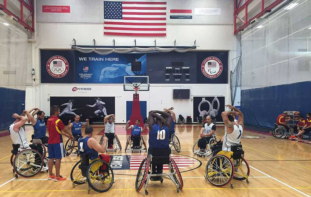 Selección masculina baloncesto en silla. Fuente: Feddf