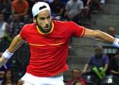 Feliciano López da el 1-0 a España (vs Rumanía) en la Davis