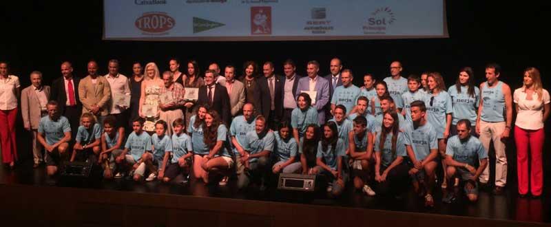 Los galardonados de la gala anual del deporte malagueño. JR/Avance Deportivo
