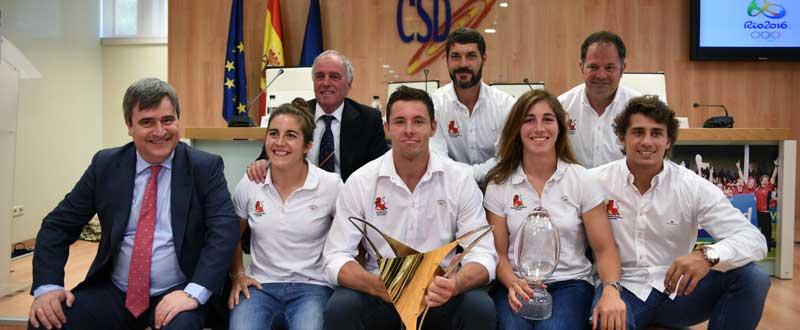 Primera fila, de izquierda a derecha: Miguel Cardenal, Patricia García, Matías Tudela, Marina Bravo y Ángel López. En la segunda fila: Alfonso Feijoo, José María Inchausti y José María Barrio. Fuente: CSD
