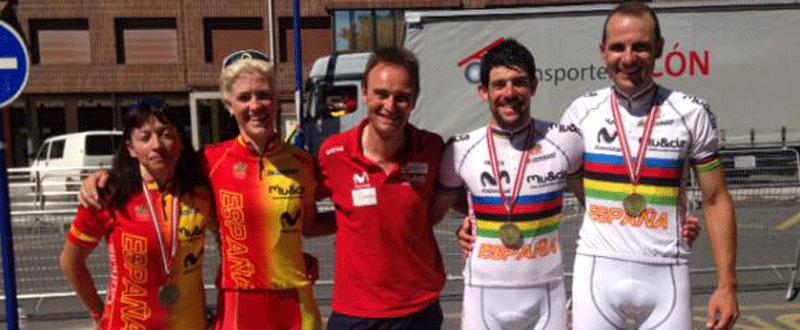 Medallistas españoles en la copa del mundo de paraciclismo en Bilbao. Fuente: Rfec