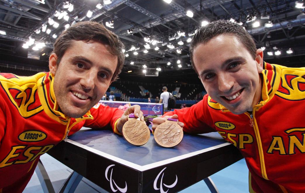 José Manuel Ruiz, izquierda. Fuente: Comité Paralímpico Español.