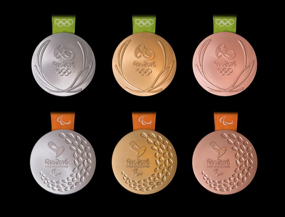 Medallas olímpicas Río. Fuente: Rio2016.com