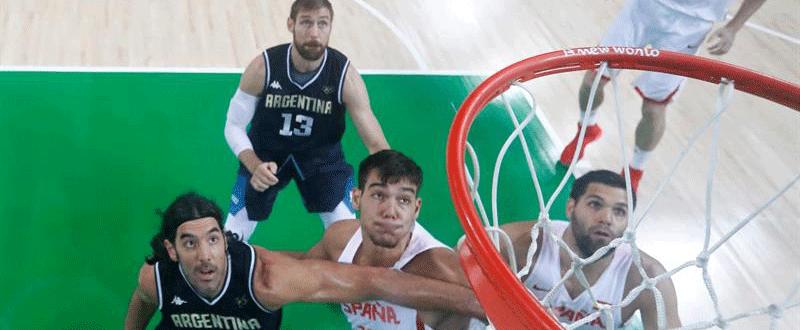 España-Argentina de baloncesto en Río. Fuente: EFE