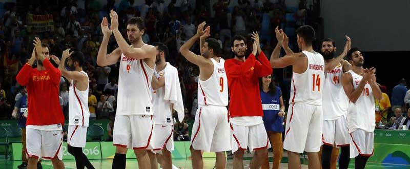 Selección española masculina de balocesto. Fuente: EFE