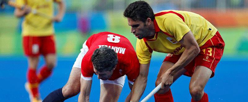 Andres Mir (hockey hierba en Río 2016). Fuente: EFE